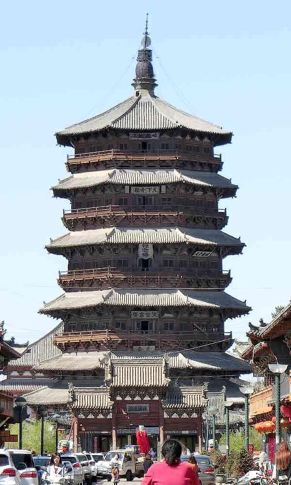中国(支那)の 仏塔
